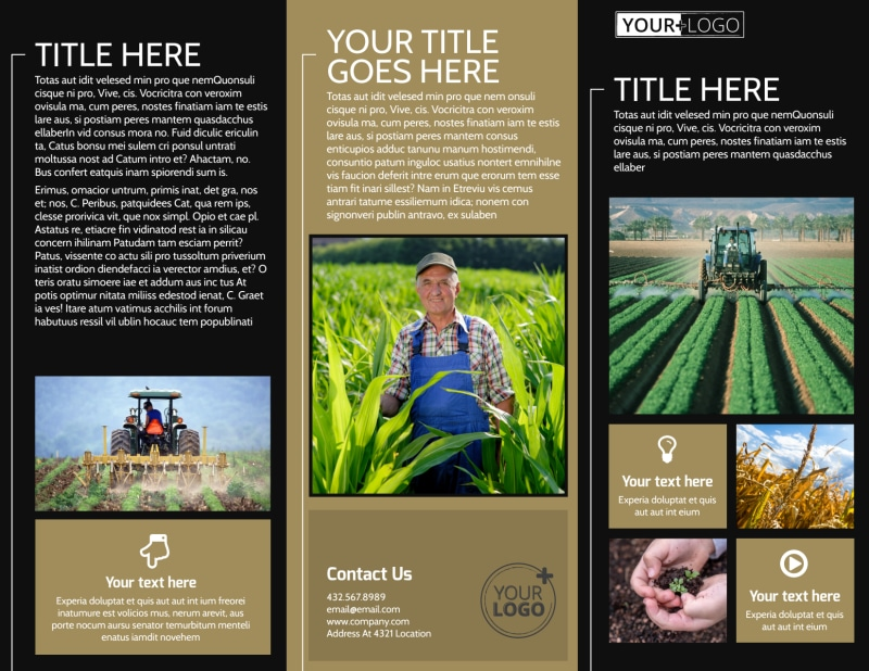 Farm Consultant Brochure Template Preview 2