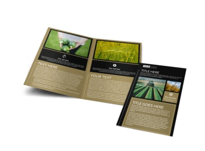 Farm Consultant Bi-Fold Brochure Template preview