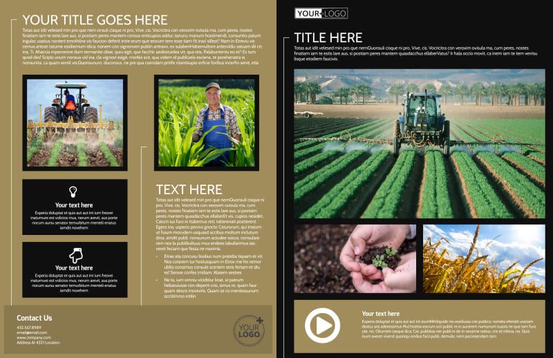 Farm Consultant Brochure Template Preview 2