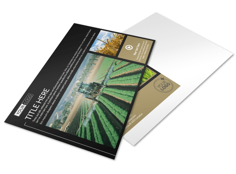 Farm Consultant Postcard Template