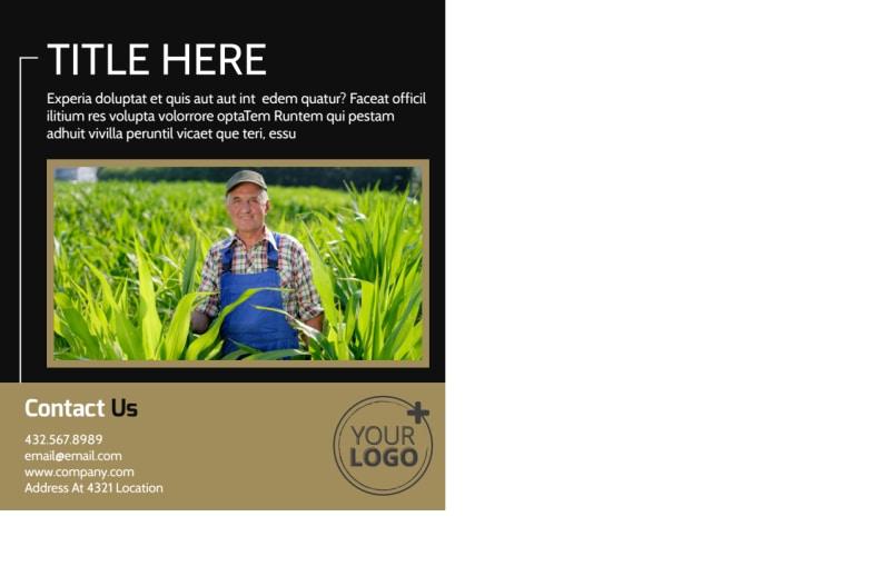 Farm Consultant Postcard Template Preview 3