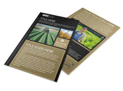 Farm Consultant Flyer Template