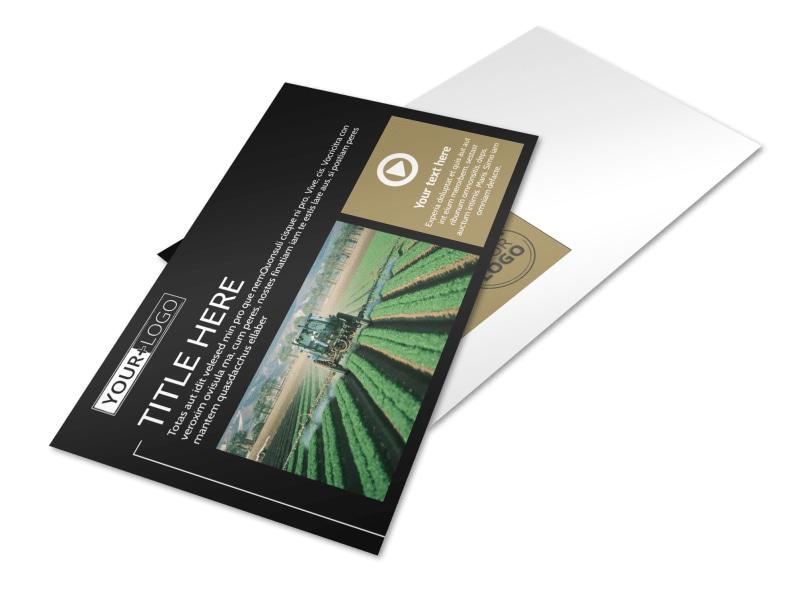 Farm Consultant Postcard Template Preview 4