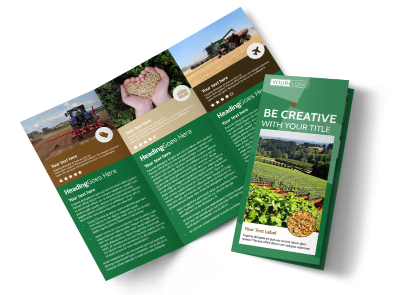 Agriculture Farm Services Tri-Fold Brochure Template