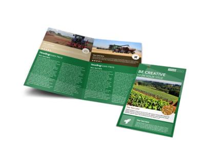 Agriculture Farm Services Bi-Fold Brochure Template
