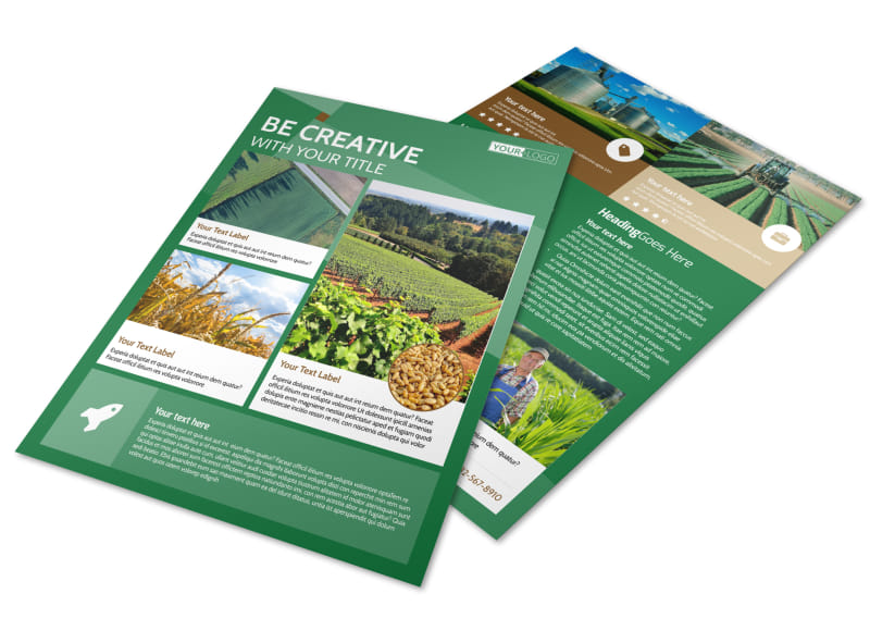 Agriculture Farm Services Flyer Template Preview 4