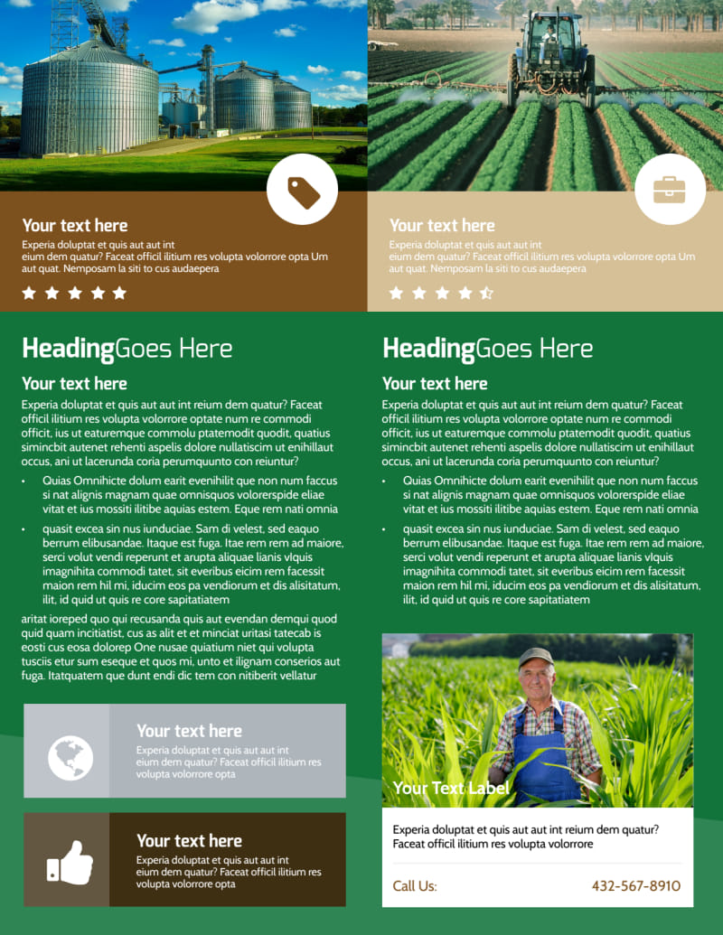 Agriculture Farm Services Flyer Template Preview 3