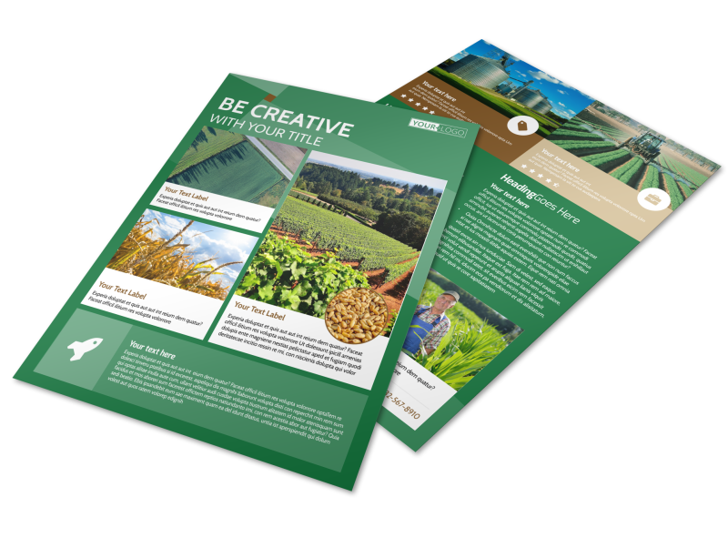 Agriculture Farm Services Flyer Template Preview 1