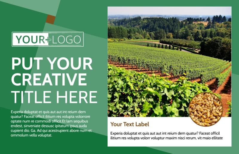 Agriculture Farm Services Postcard Template Preview 2