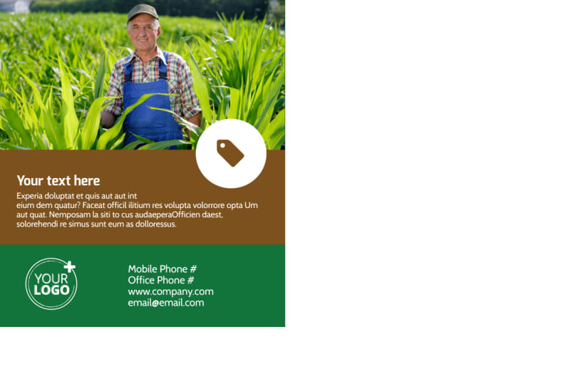 Agriculture Farm Services Postcard Template Preview 3