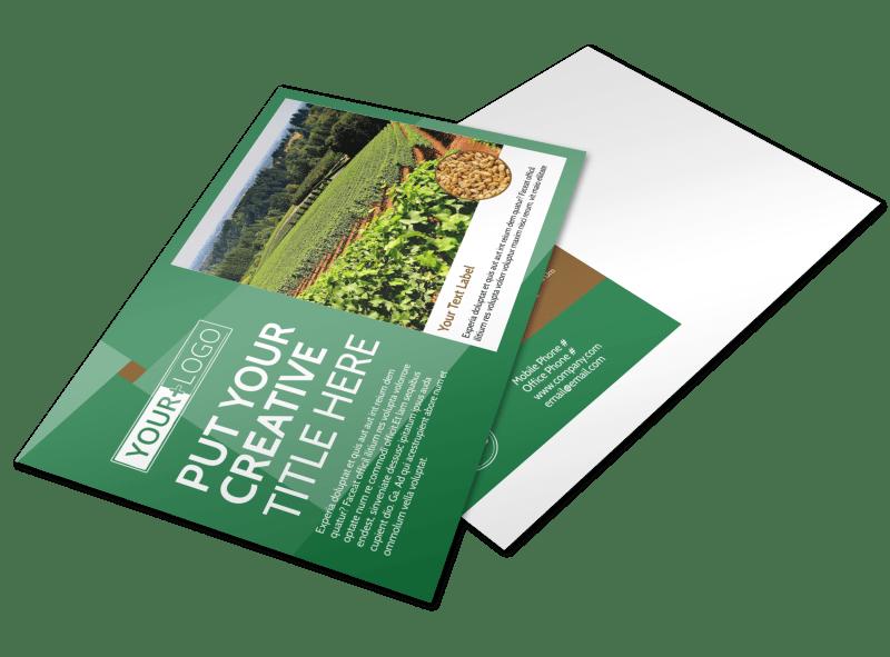 Agriculture Farm Services Postcard Template Preview 1