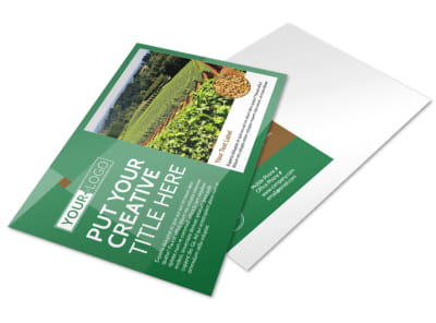 Agriculture Farm Services Postcard Template