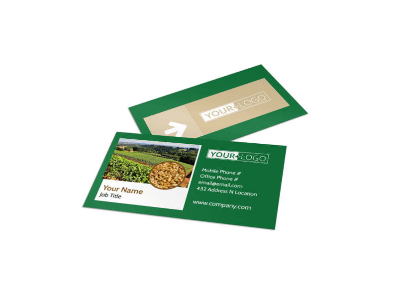 Agriculture Farm Services Business Card Template