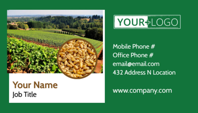 Agriculture Farm Services Business Card Template Preview 2