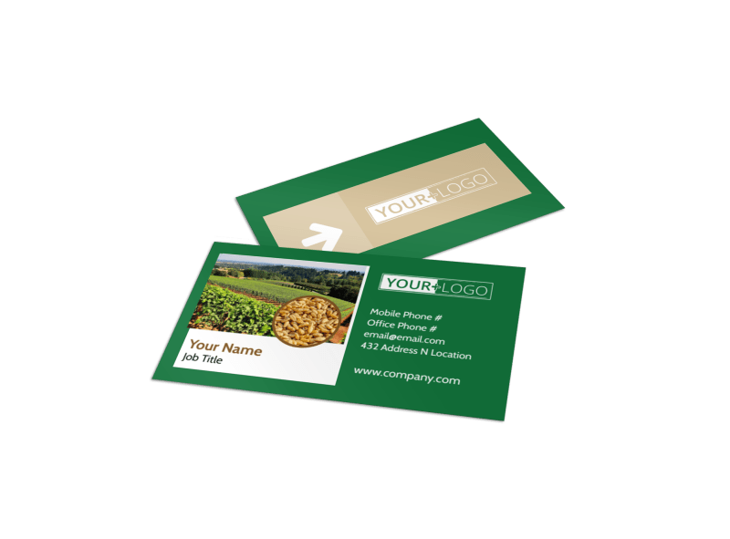 Agriculture Farm Services Business Card Template Preview 1