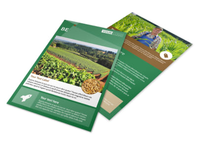 Agriculture Farm Services Flyer Template