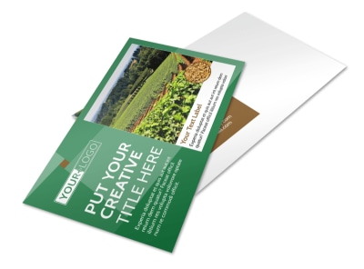 Agriculture Farm Services Postcard Template preview