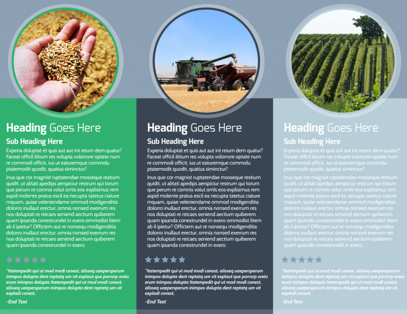 Crop Protection Service Brochure Template Preview 3