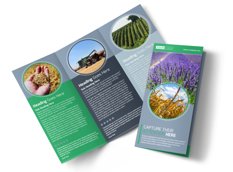 Crop Protection Service Brochure Template Preview 1
