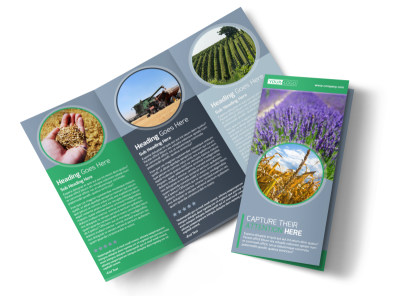 Crop Protection Service Tri-Fold Brochure Template