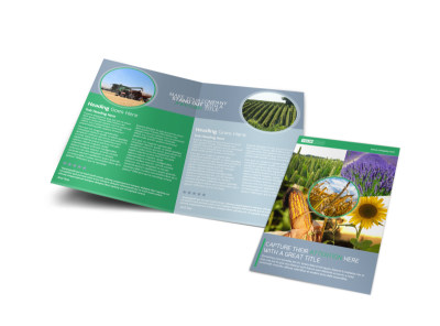 Crop Protection Service Bi-Fold Brochure Template