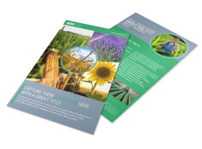Crop Protection Service Flyer Template preview