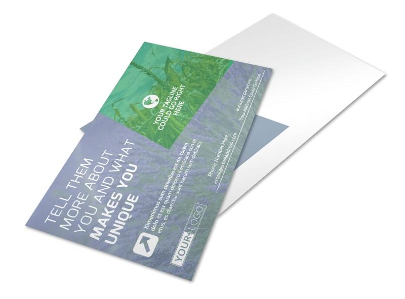 Crop Protection Service Postcard Template