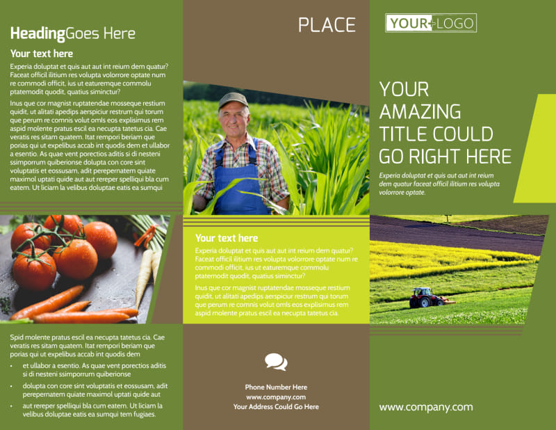 Agricultural Marketing Services Brochure Template Preview 2