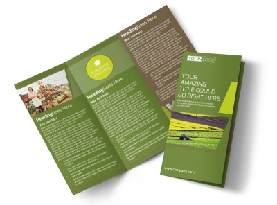 Agricultural Marketing Services Tri-Fold Brochure Template preview