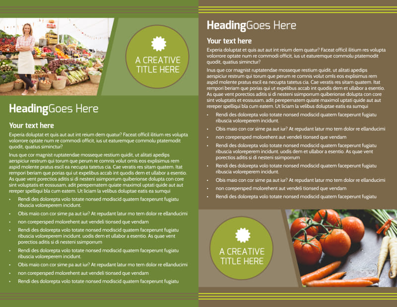 Agricultural Marketing Services Brochure Template Preview 3