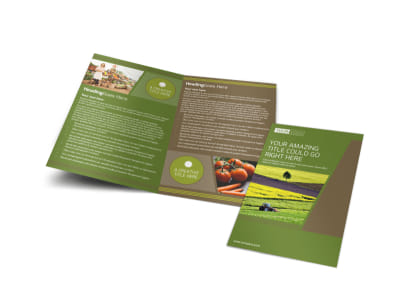 Agricultural Marketing Services Bi-Fold Brochure Template preview