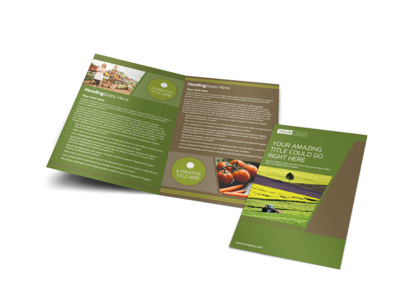 Agricultural Marketing Services Brochure Template Preview 1