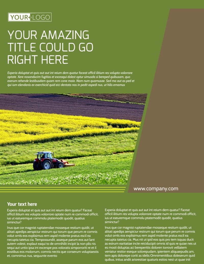Agricultural Marketing Services Flyer Template Preview 2