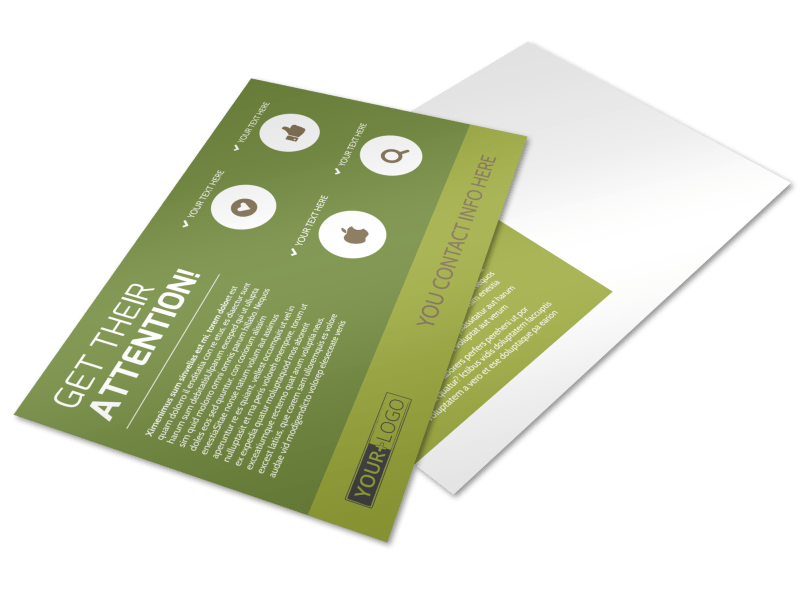 Agricultural Marketing Services Postcard Template Preview 1