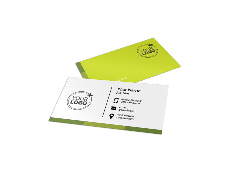 Agricultural Marketing Services Business Card Template Preview 1