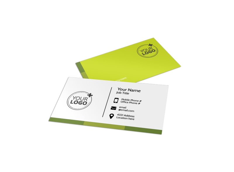 Agricultural Marketing Services Business Card Template Preview 4