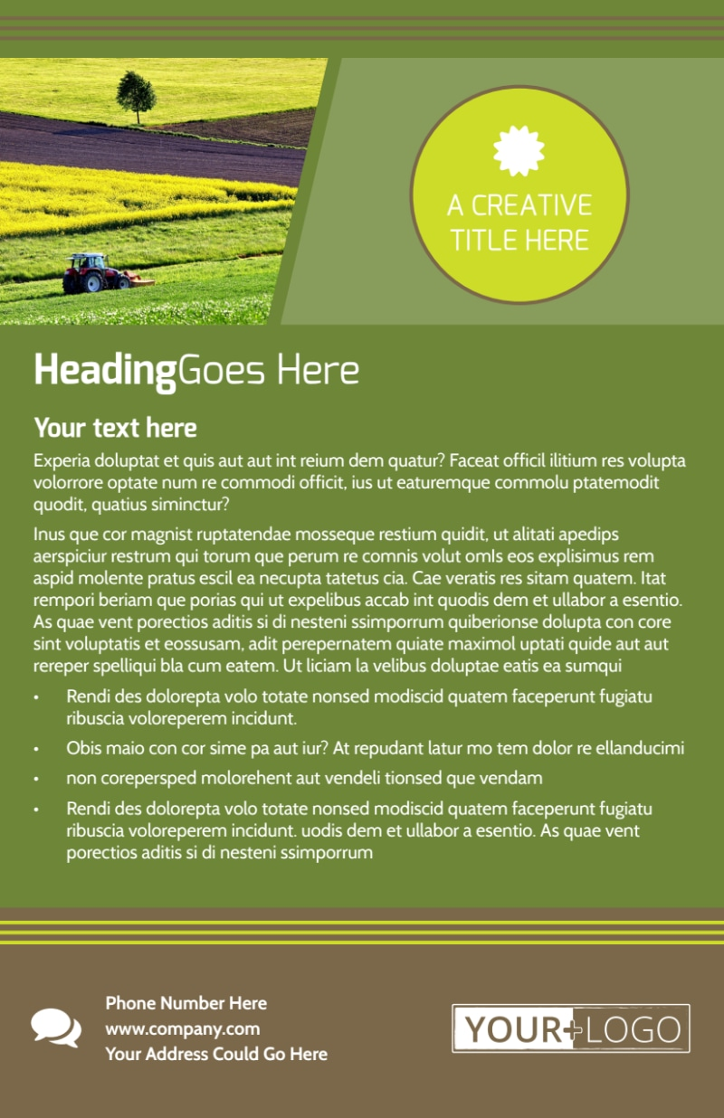 Agricultural Marketing Services Flyer Template Preview 3