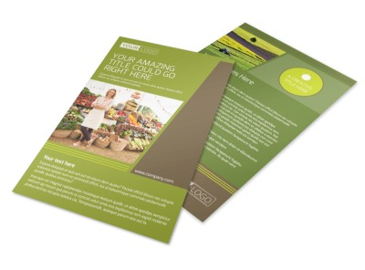 Agricultural Marketing Services Flyer Template preview