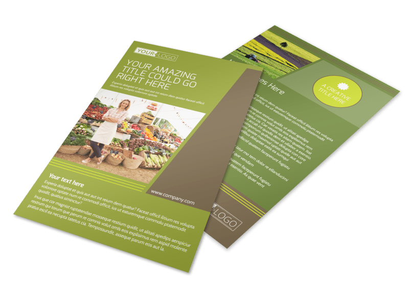 Agricultural Marketing Services Flyer Template Preview 1