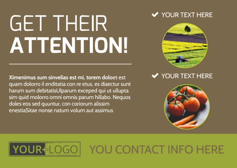 Agricultural Marketing Services Postcard Template Preview 2
