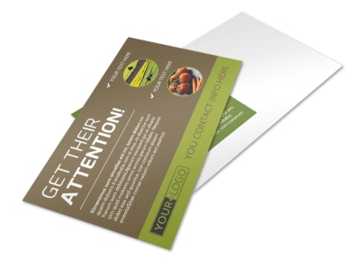 Agricultural Marketing Services Postcard Template preview