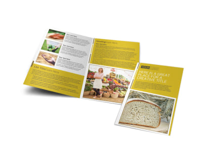 Agricultural Product Distributor Bi-Fold Brochure Template preview