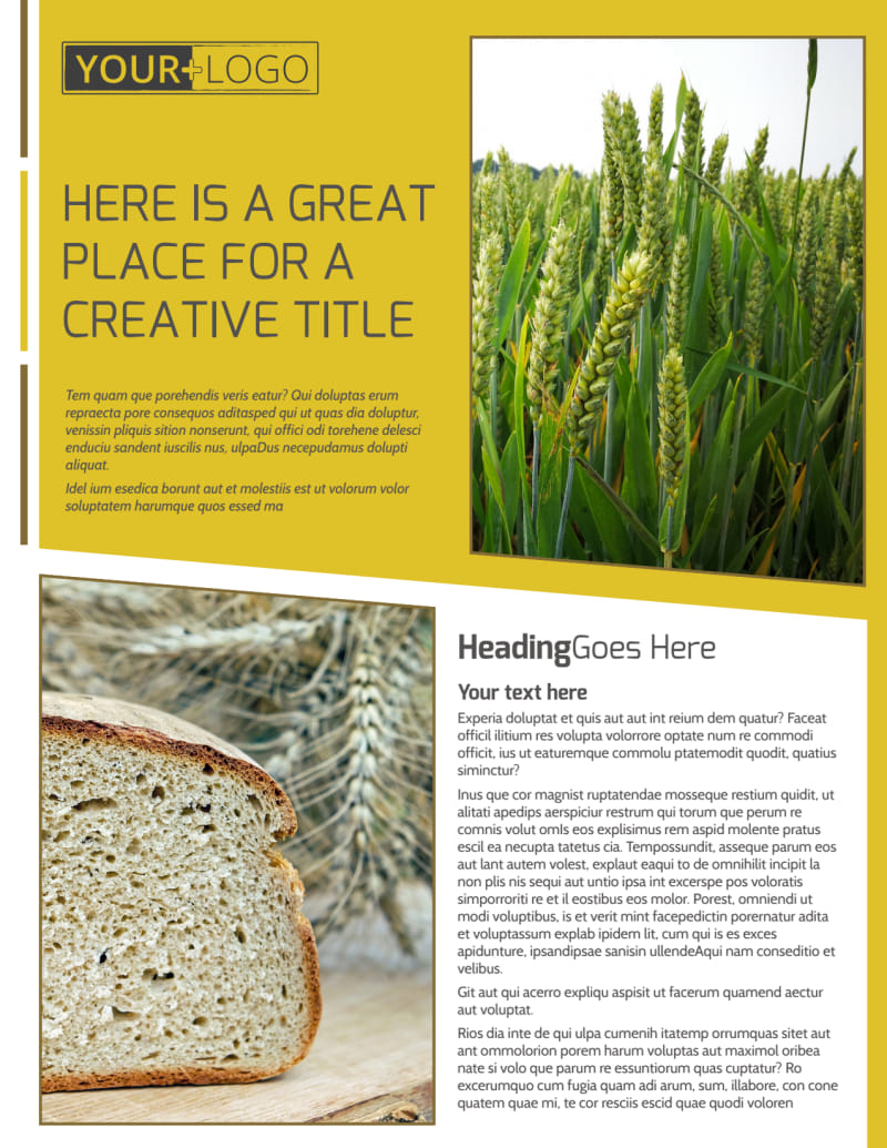 Agricultural Product Distributor Flyer Template Preview 2