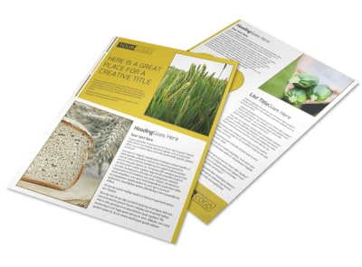 Agricultural Product Distributor Flyer Template preview