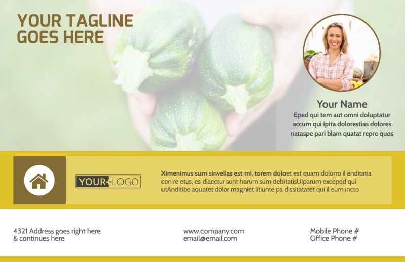Agricultural Product Distributor Postcard Template Preview 2