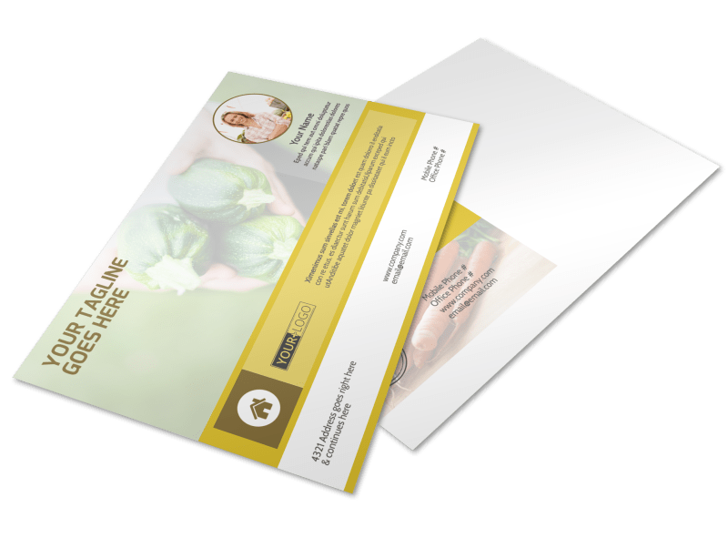 Agricultural Product Distributor Postcard Template Preview 1
