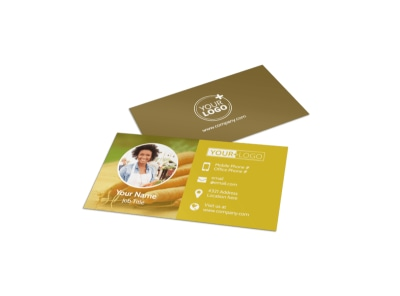 Agricultural Product Distributor Business Card Template preview