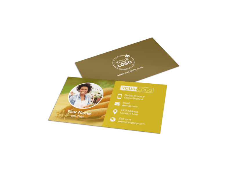 Agricultural Product Distributor Business Card Template Preview 1