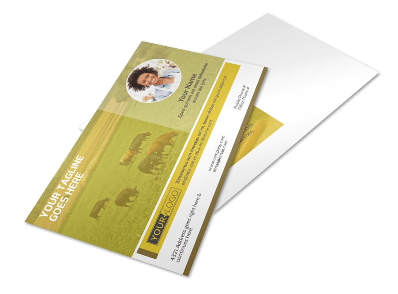 Agricultural Product Distributor Postcard Template Preview 4