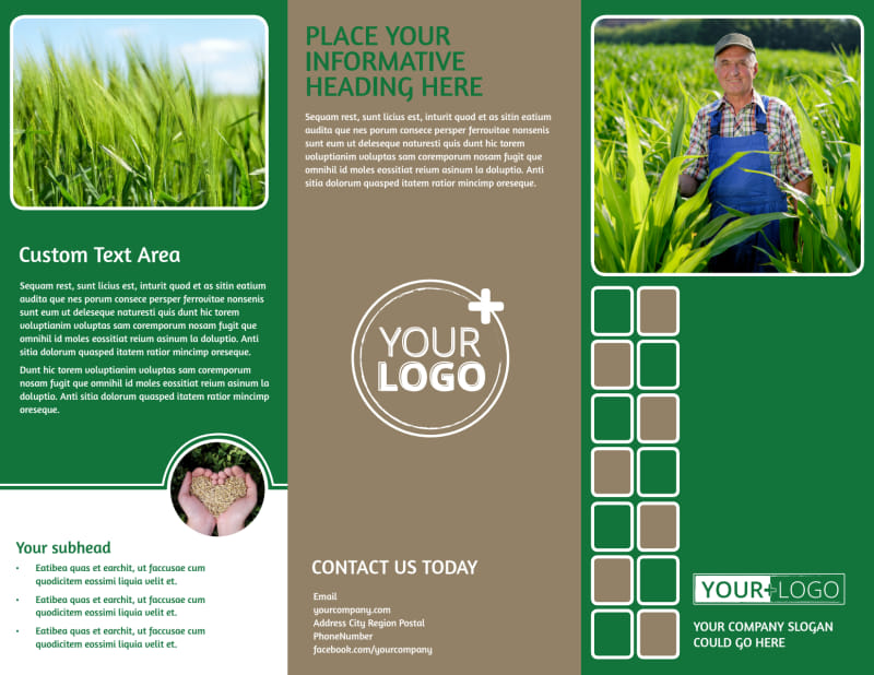 Agribusiness Consulting Brochure Template Preview 2